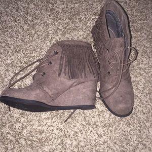 Dark tan boots